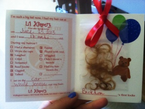 Haircut card inside