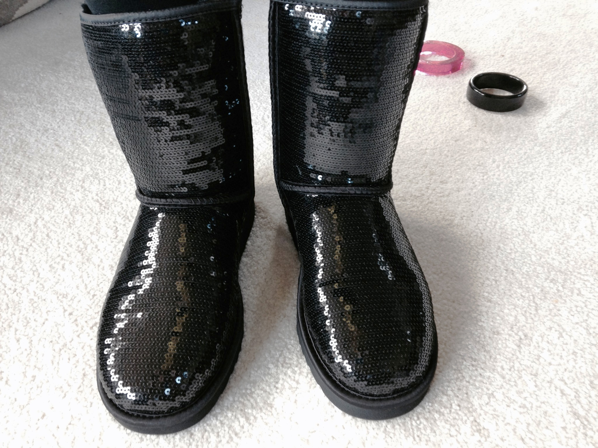 Black sequin Ugg's